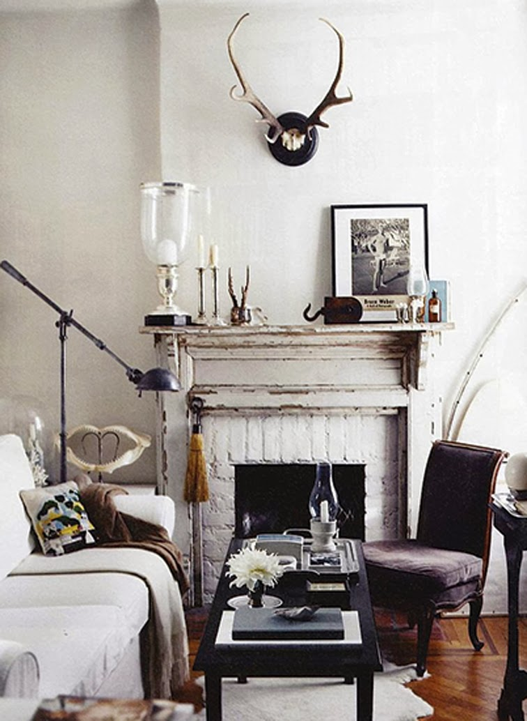 Shabby chic rustic living room