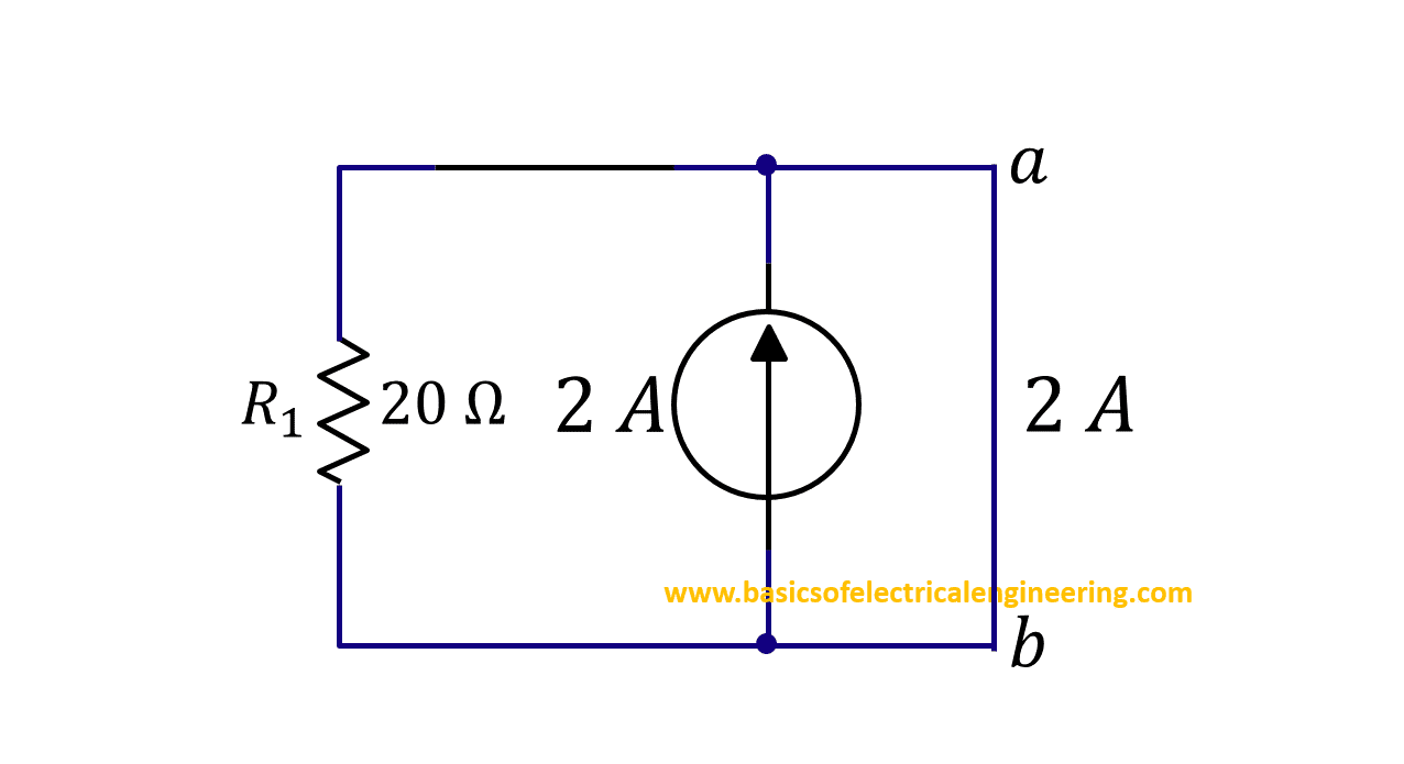 Norton Theorem Basics Of Electrical Engineering Below Is A Current Divider Circuit With Voltage Source Step 4b Short