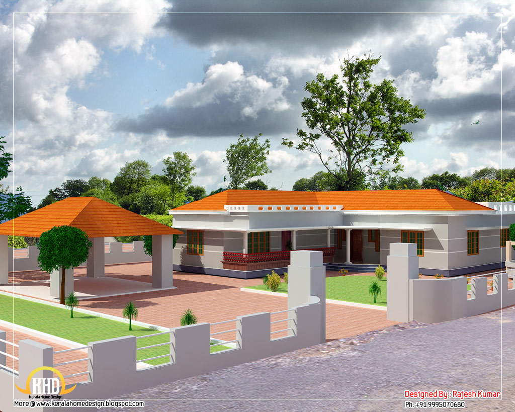 House design l shaped - Single Floor L Shape Home 1500 Sq Ft 139 Sq M