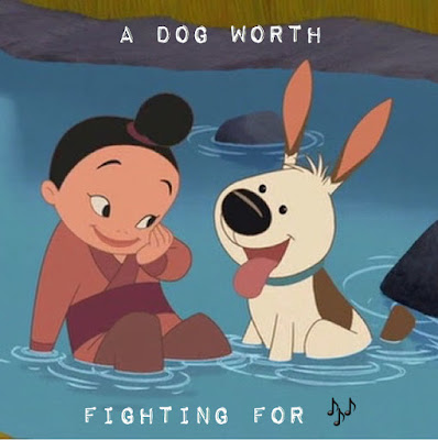 A photo of Mulan's dog, Little Brother
