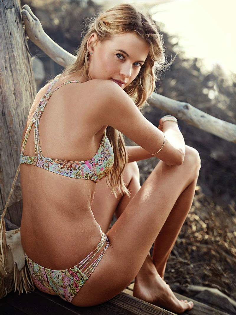 Behati Prinsloo poses for the new Victoria's Secret Swim Lookbook 2014
