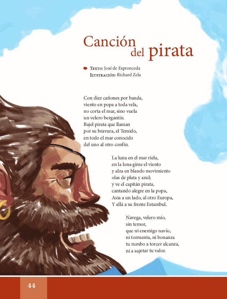 Canción del pirata - Español Lecturas 6to 2014-2015