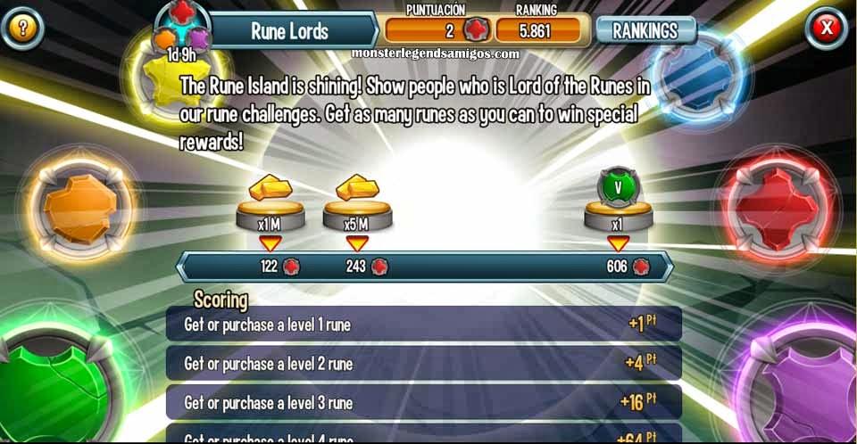imagen de señor de las runas de monster legends