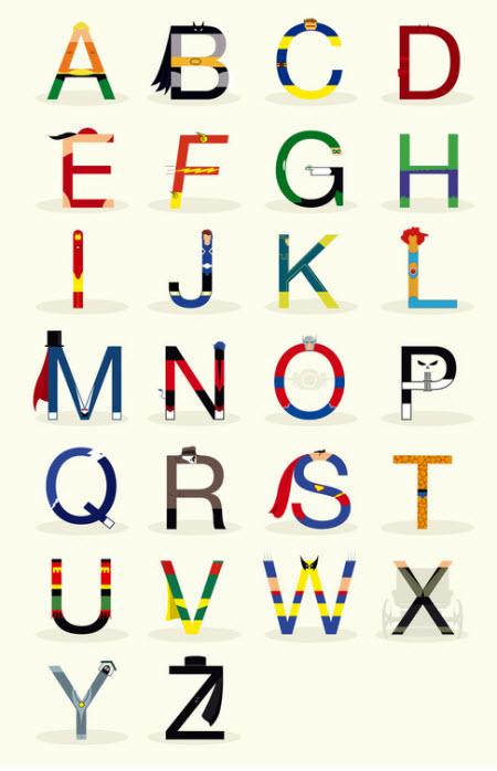 Super abecedario heróico
