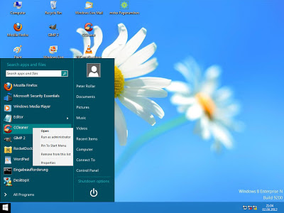 Aplikasi Pengganti Start Menu Windows 8