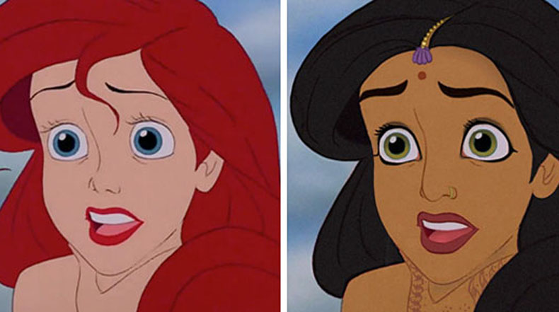 Artista reimagina a princesas de Disney perteneciendo a distintas etnias