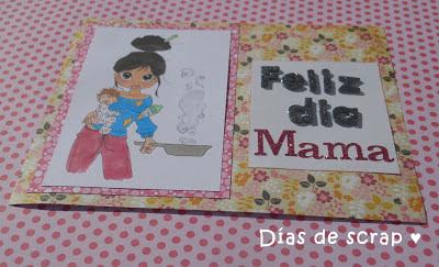 scrap postal día de la madre