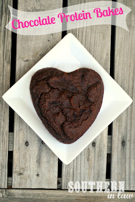 Chocolate Protein Bakes - Breakfast Bakes - Gluten Free, Low Fat, Healthy, High Protein - Peanut Flour