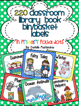 http://www.teacherspayteachers.com/Product/220-Classroom-Library-Book-Bin-Basket-Labels-Primary-Polka-Dots-728294