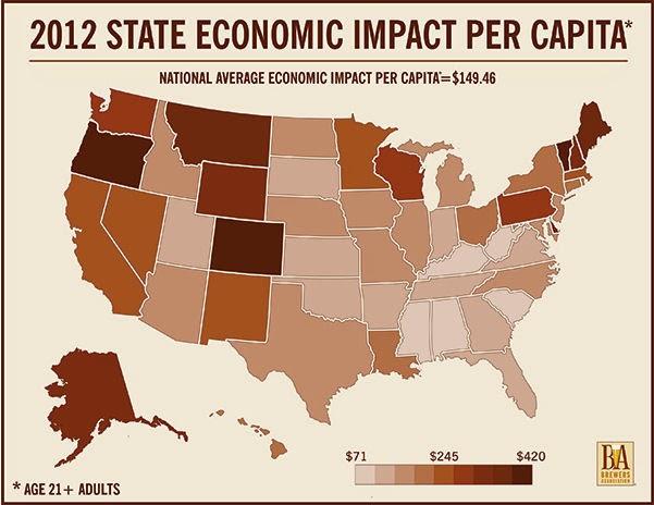 2012 State Economic Impact Per Capita