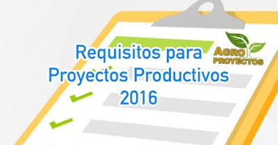 Requisitos para solicitar apoyos de proyectos a fondo perdido 2016
