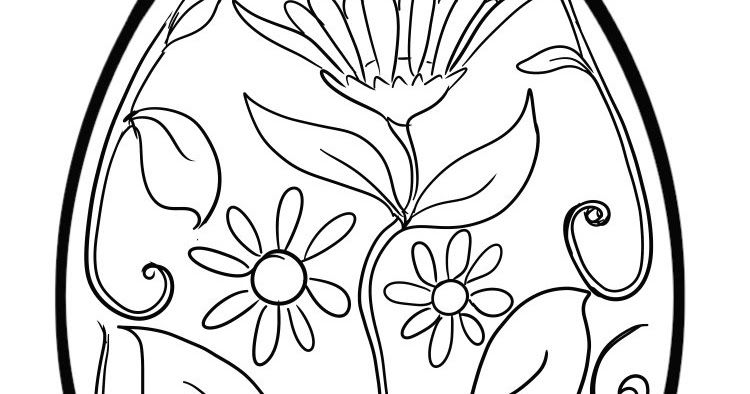 flower power coloring pages - colouring page art flower power easter egg colouring page