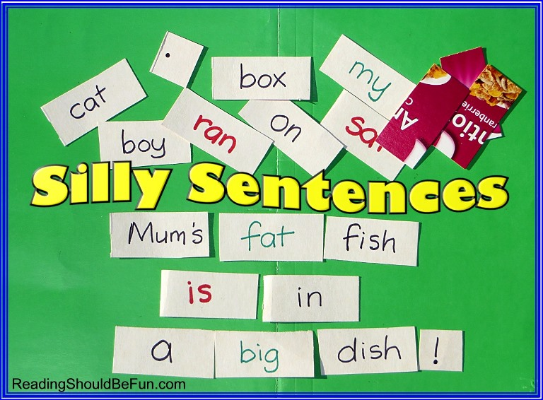 silly sentences for sight words practice grammar and sentence