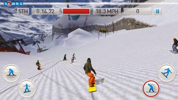 تحميل لعبة التزلج علي الجليد المميزة للأي فون والأي باد والاي بود تاتش مجاناً Fresh Tracks Snowboarding iOS 1.52