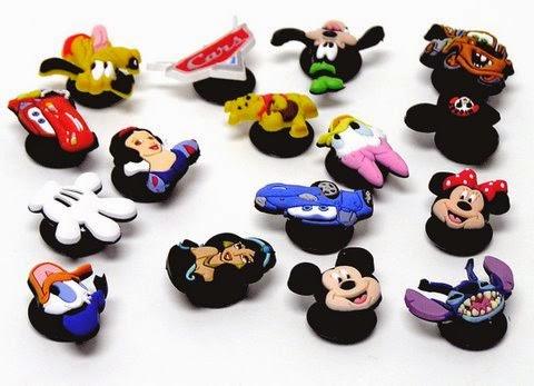 Bottons Pingentes Disney Crocs