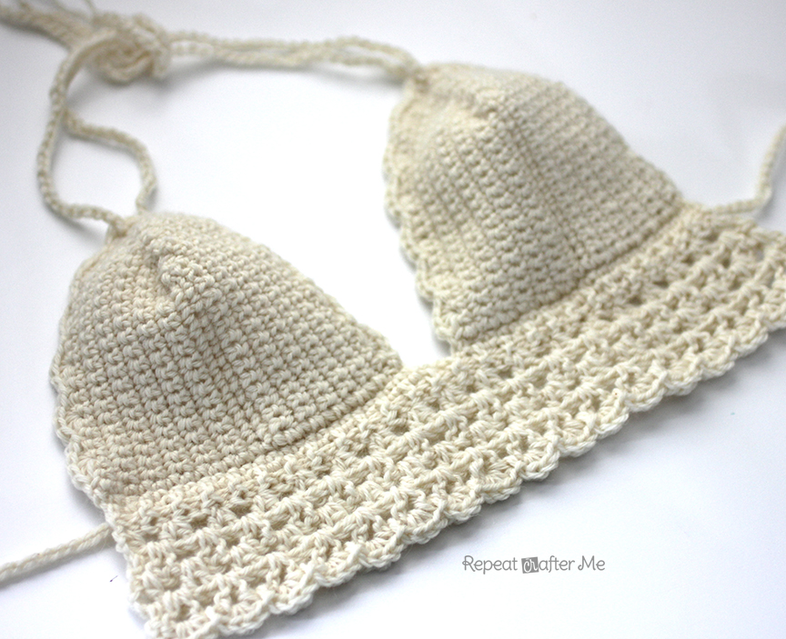 Crochet Bikini Top - Repeat Crafter Me