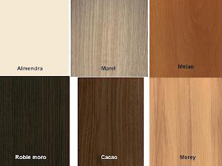 Su mueble a la medida muestrario de colores para los - Colores madera muebles ...