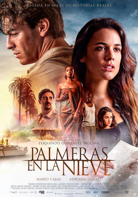 Póster definitivo de 'Palmeras en la nieve' con Mario Casas y Adriana Ugarte