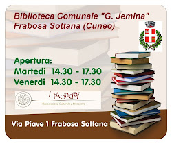 BIBLIOTECA COMUNALE FRABOSA SOTTANA APERTURA MARTEDI E VENERDI DALLE 14,30 ALLE 17,30