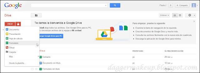 Pantalla principal de Google Drive