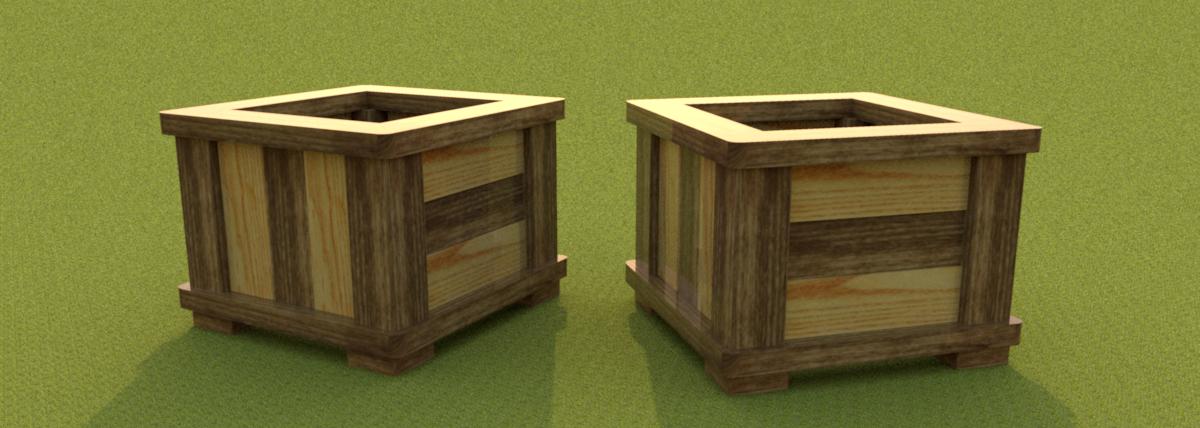 Brico maceta - Macetas de madera para exterior ...