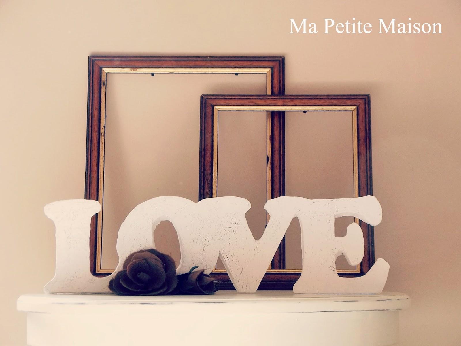 Handmade valentine shabby chic love letters ma petite for Soprammobili fai da te