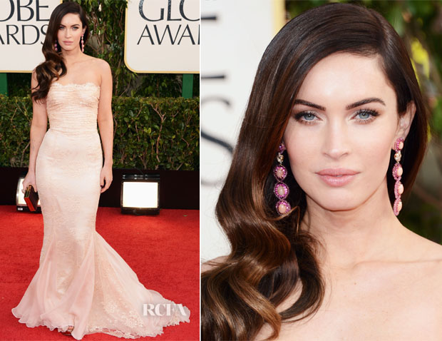 Megan Fox Hairstyle at 2013 Golden Globe Awards