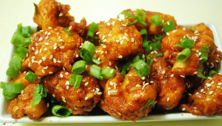 Shweta in the Kitchen: Gobi Manchurian - Cauliflower Manchurian