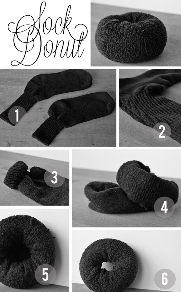 ... school and make a proper sock bun by creating your very own sock donut