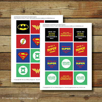 Free Superhero Logo Labels