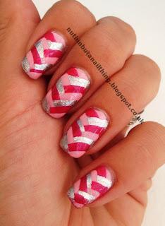 Pink Fishtail Manicure