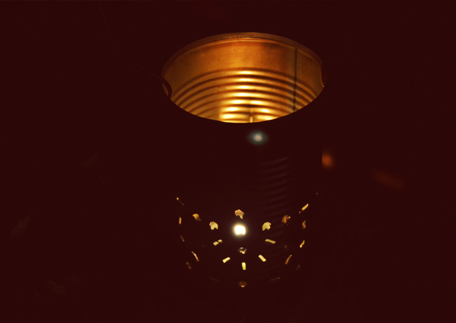The Flying Clubhouse: Aluminum Can Lantern