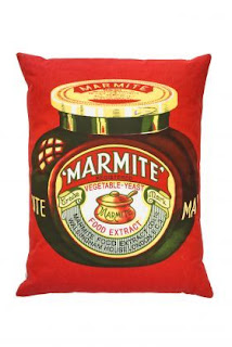 Upcycled Marmite Cushion - Little Mill House