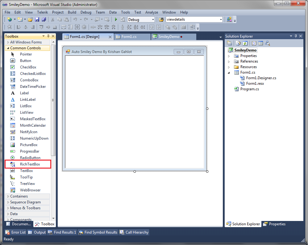 How to insert smiley images in richtextbox csharp asp step 4 copy all the images which you have downloaded using step 1 and navigate to visual studio select projectsmileydemo properties buycottarizona