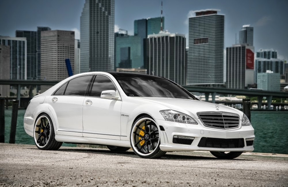 Mercedes benz w221 s65 amg white on black benztuning for Mercedes benz s 65