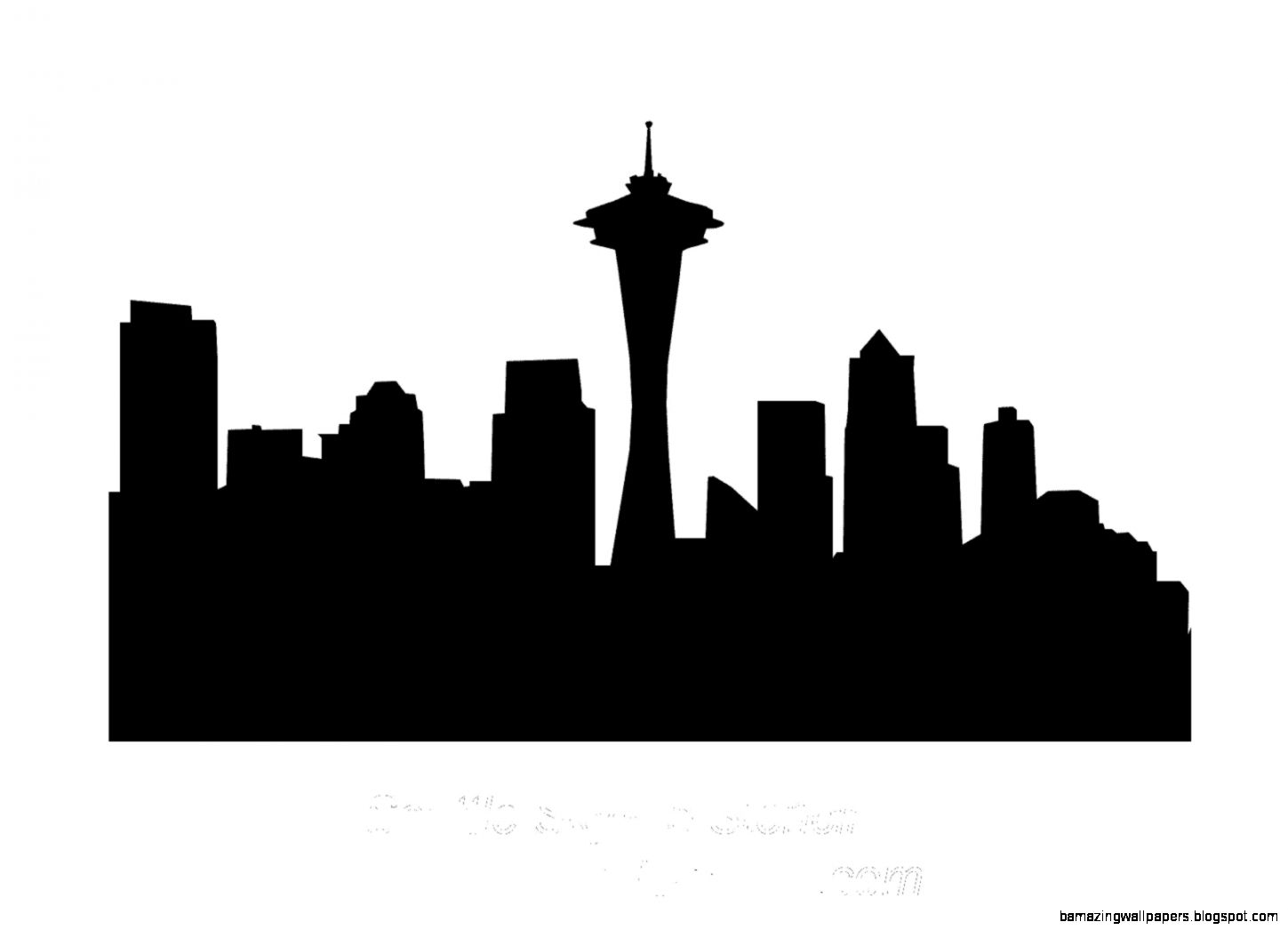 Seattle City Skyline Clip Art   Clipart Kid