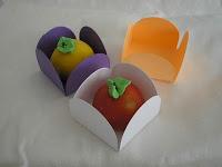 Cajitas abiertas para dulces y pastelitos
