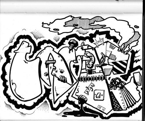 create graffiti sketches