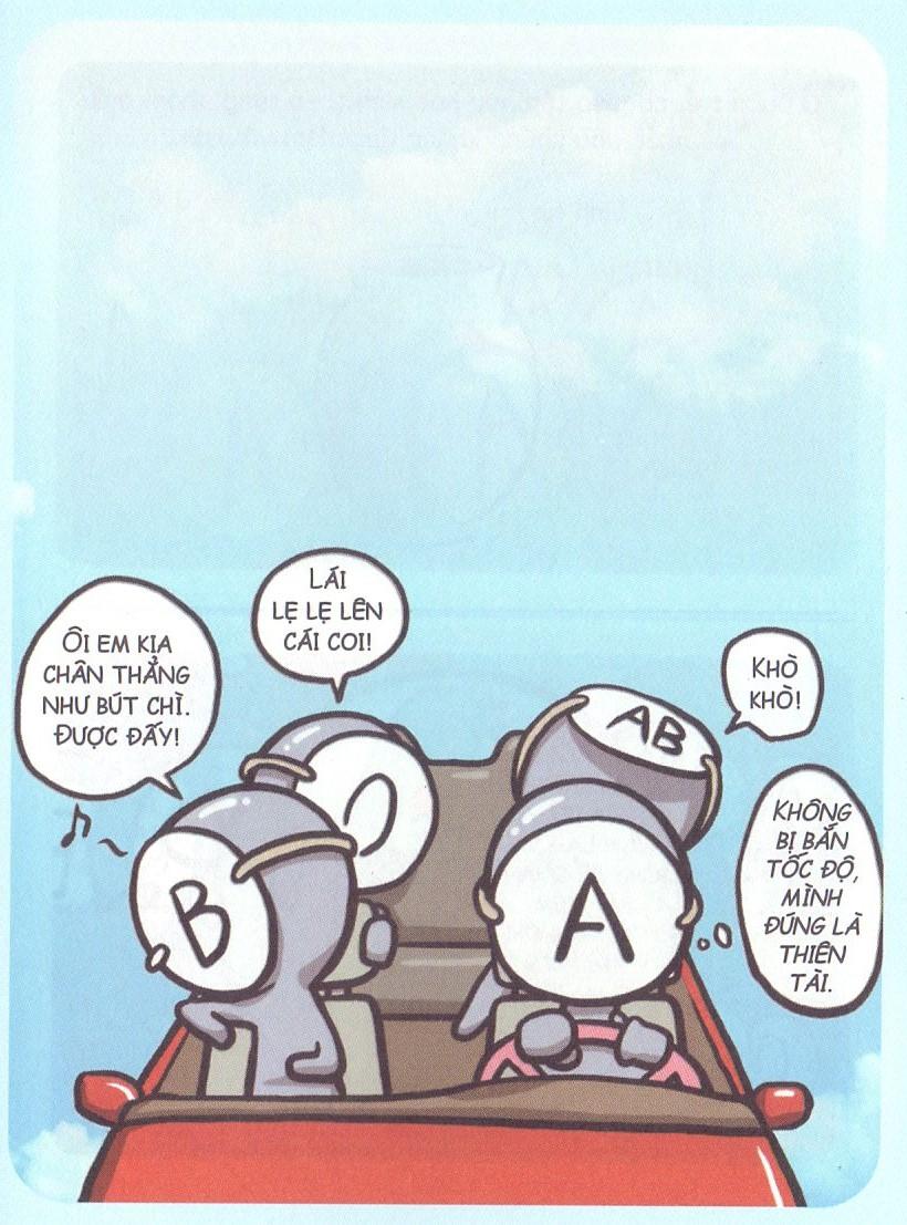 Khi 4 nhóm máu cưỡi xế hộp đi chơi?
