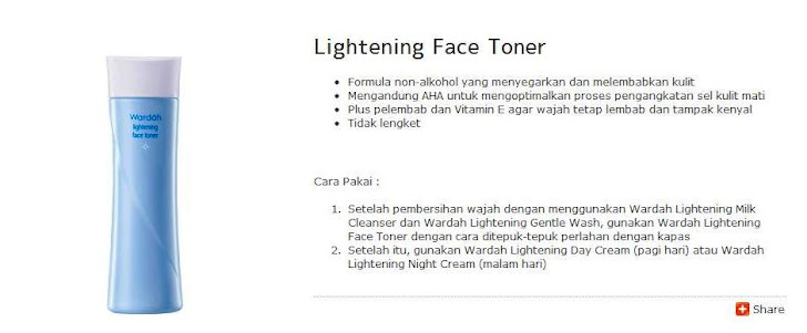 Lightening Face Toner - $9