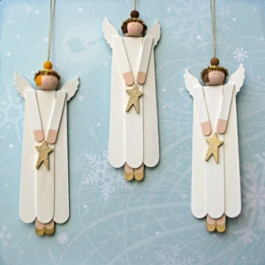 Christmas, Angels, Popsicle Sticks