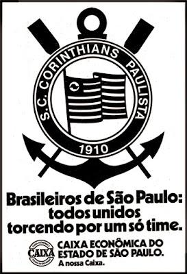 Corinthians versus Fluminense; Campeonato brasileiro de futebol de 1976; Corinthians; Timão; década de 70. os anos 70; propaganda na década de 70; Brazil in the 70s, história anos 70; Oswaldo Hernandez;