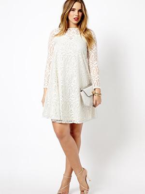Asos Curvy White Plus Size Grad Dresses | bridal dresses