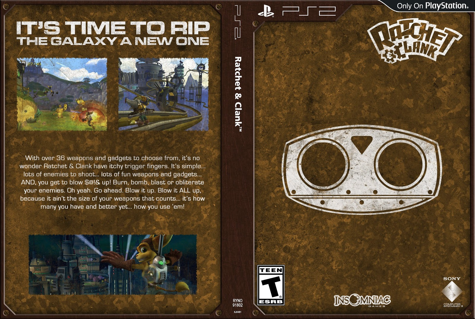 Capa Ratchet & Clank PS2