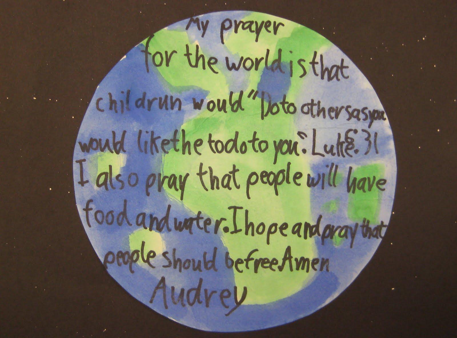 Berühmt Children's Prayers for the World | TeachKidsArt DI42