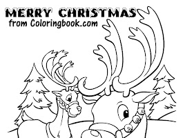 Reindeer Coloring Pages Free
