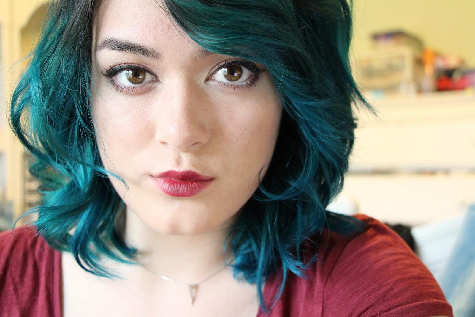 K MICHELLE  BLUE HAIR  BLUE HAIR DONT CARE!