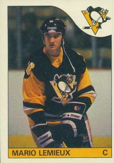 mario lemieux pittsburgh penguins o-pee-chee rookie hockey card