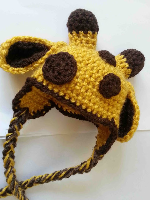 Free Crochet Pattern Giraffe Hat : Made by Me. Shared with you.: Crocheted Hats