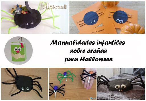 Manualidades infantiles sobre arañas para Halloween